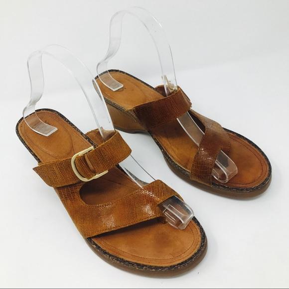 Sandals Skin ShoesLizard Poshmark Brown Wedge Ariat Leather Cork QroedCBxW